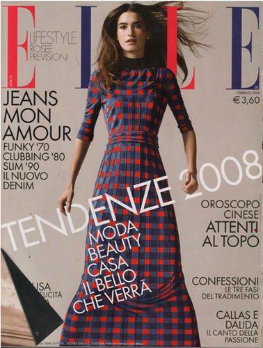 Elle Italia, 'Golden Pop', Pia Capelli, Feb 2008