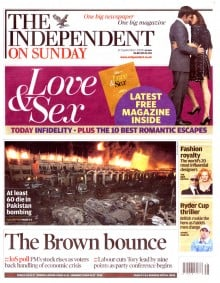 Independent on Sunday , 'Does my art…', Rachel Shields, 21st Sep 2008