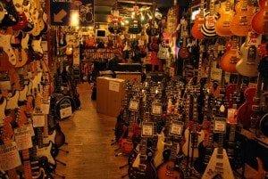 Tin Pan Alley guitar shops
