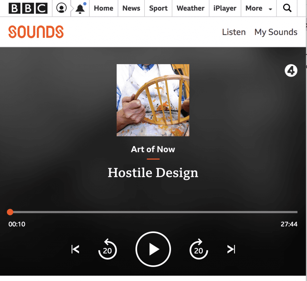 Click to listen to Stuart Semple on Radio 4
